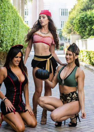 Claudia Romani, Melissa Lori and Anais Zanotti - Celebrating Halloween in Miami