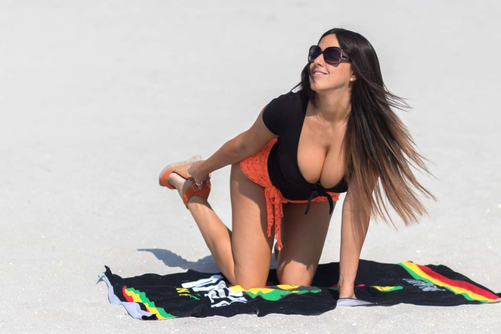 Claudia Romani 2018 : Claudia Romani on the beach in Miami -03