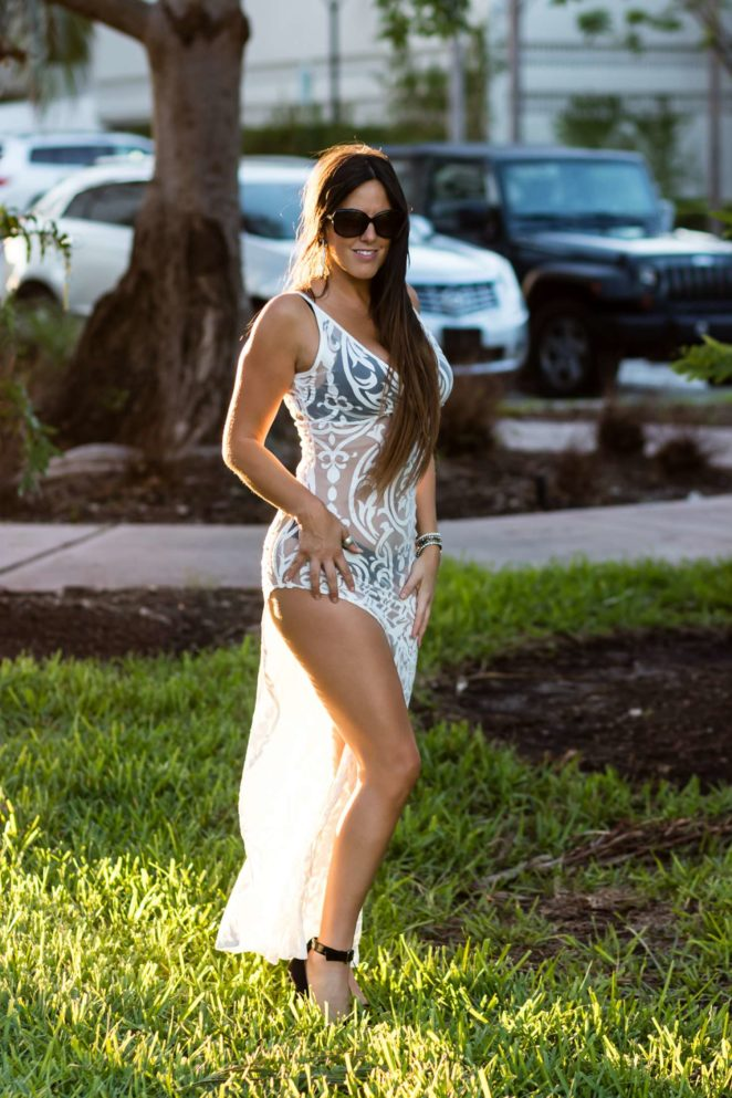 Claudia Romani out for Art Basel in Miami