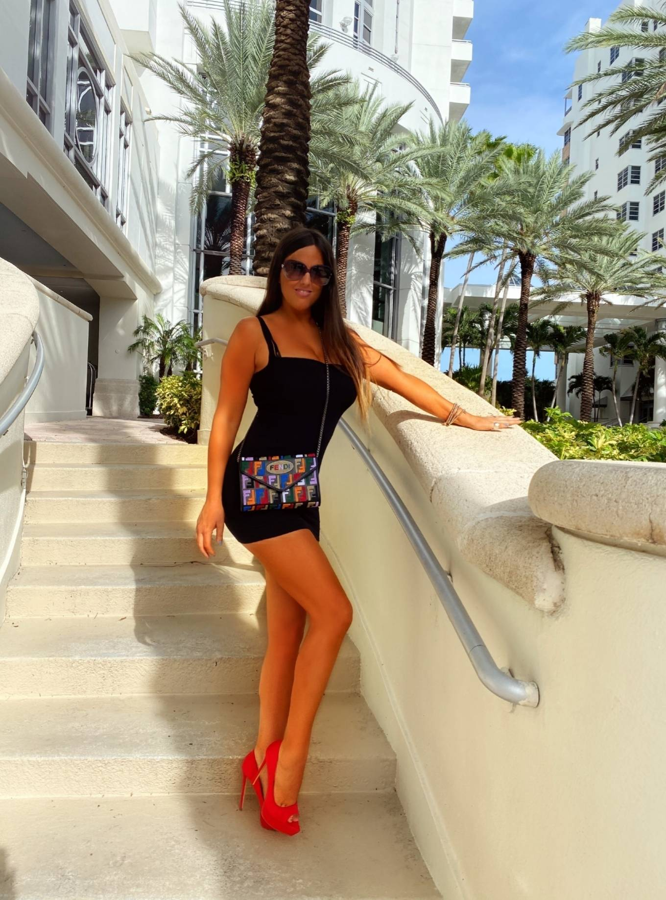 Claudia Romani - Photoshoot for Soro bags and accessories in Maimi Beach