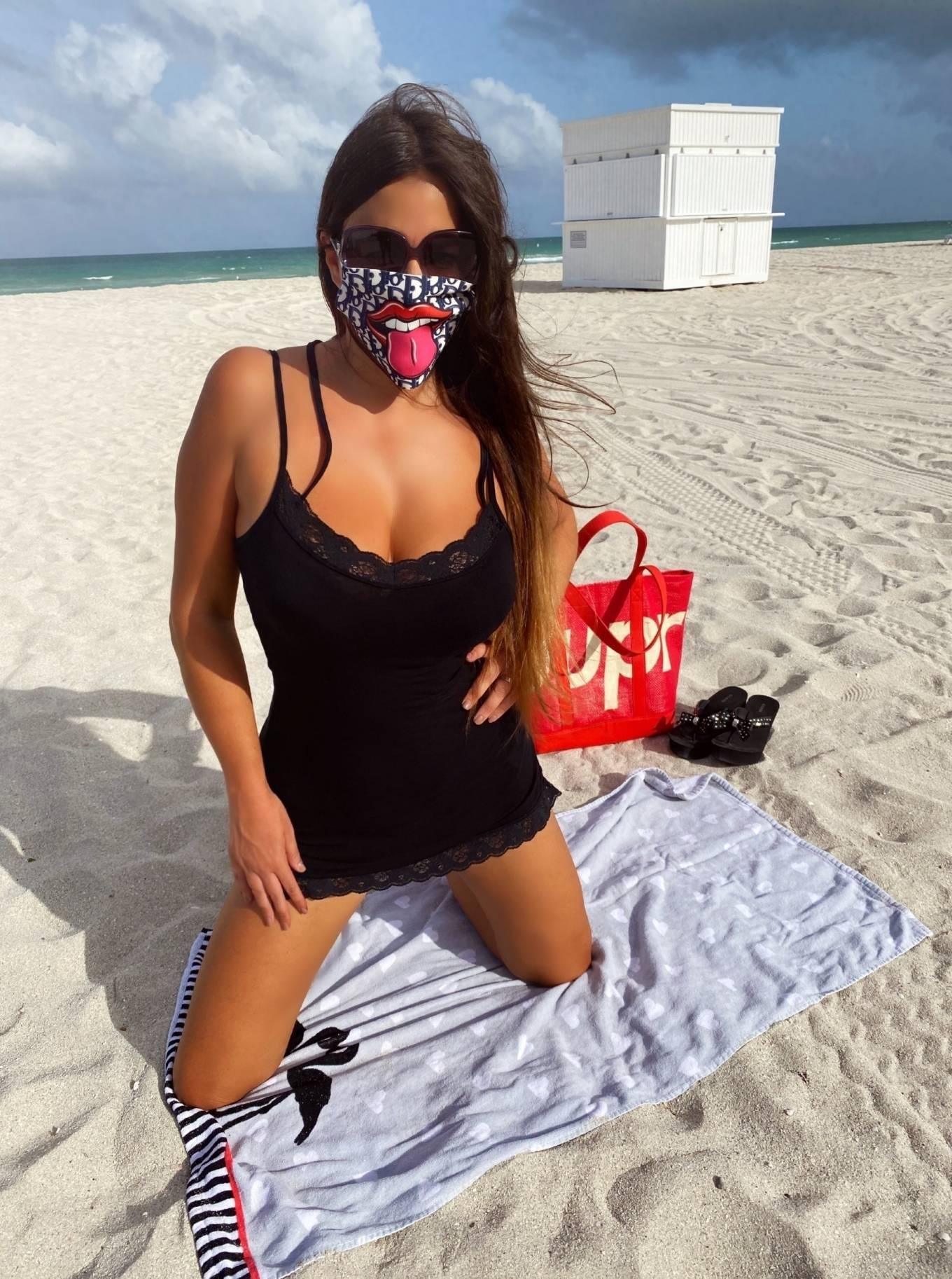 Claudia Romani 2020 : Claudia Romani – Possing in a bikini at Miami Beach-01