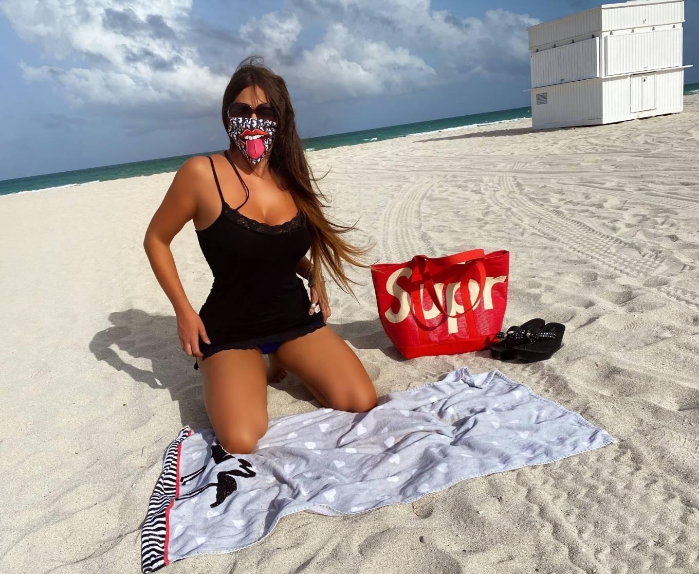 Claudia Romani 2020 : Claudia Romani – Possing in a bikini at Miami Beach-03