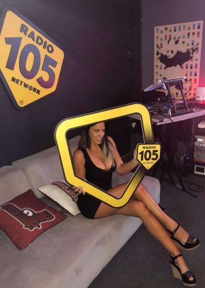 Claudia Romani - Radio 105's 20th birthday in Miami Beach