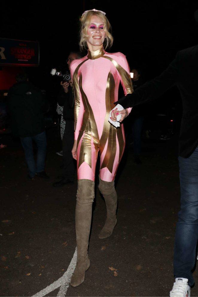 Claudia Schiffer - Jonathan Ross Halloween Party in London
