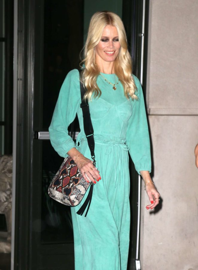 Claudia Schiffer on her way to a Book Signing in New York