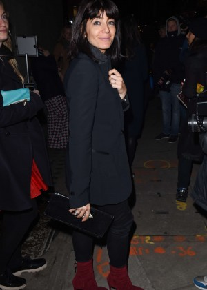 Claudia Winkleman - Giles Deacon Fashion Show 2015 in London
