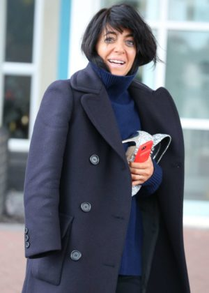 Claudia Winkleman - Leaving her Hotel in Blackpool