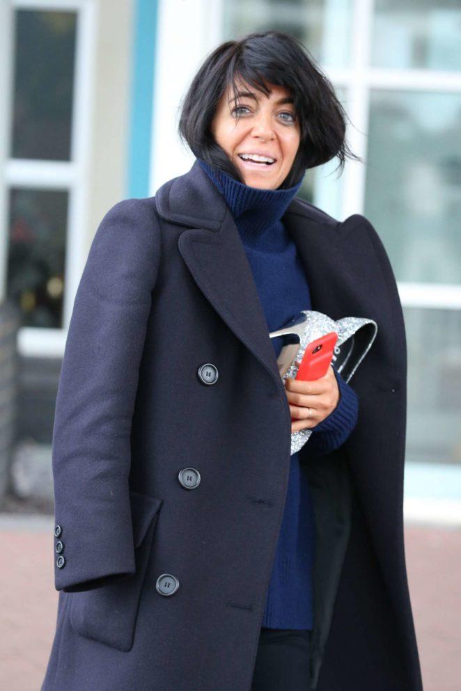 Claudia Winkleman - Leaving her Hotel in Blackpool
