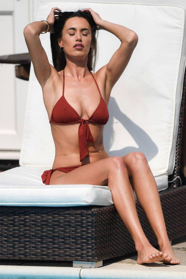 Clelia Theodorou - In bikini filming 'The Only Way is Essex TV show'