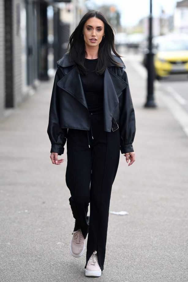 Clelia Theodorou - The Only Way is Essex TV show filming