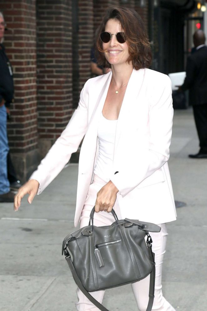 Cobie Smulders - Arriving at 'The Late Show with Stephen Colbert' in NY