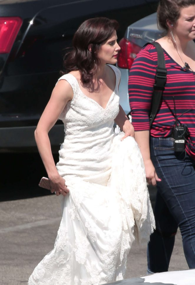 Cobie Smulders on set of 'Literally Right Before Aaron' in Los Angeles