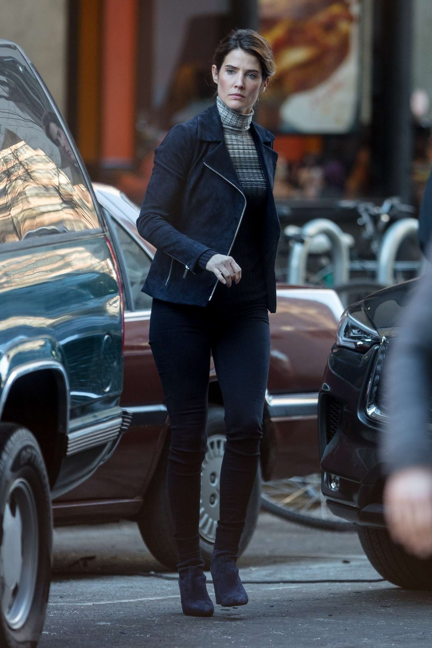 Cobie Smulders: On the set of their upcoming Marvel hit ...