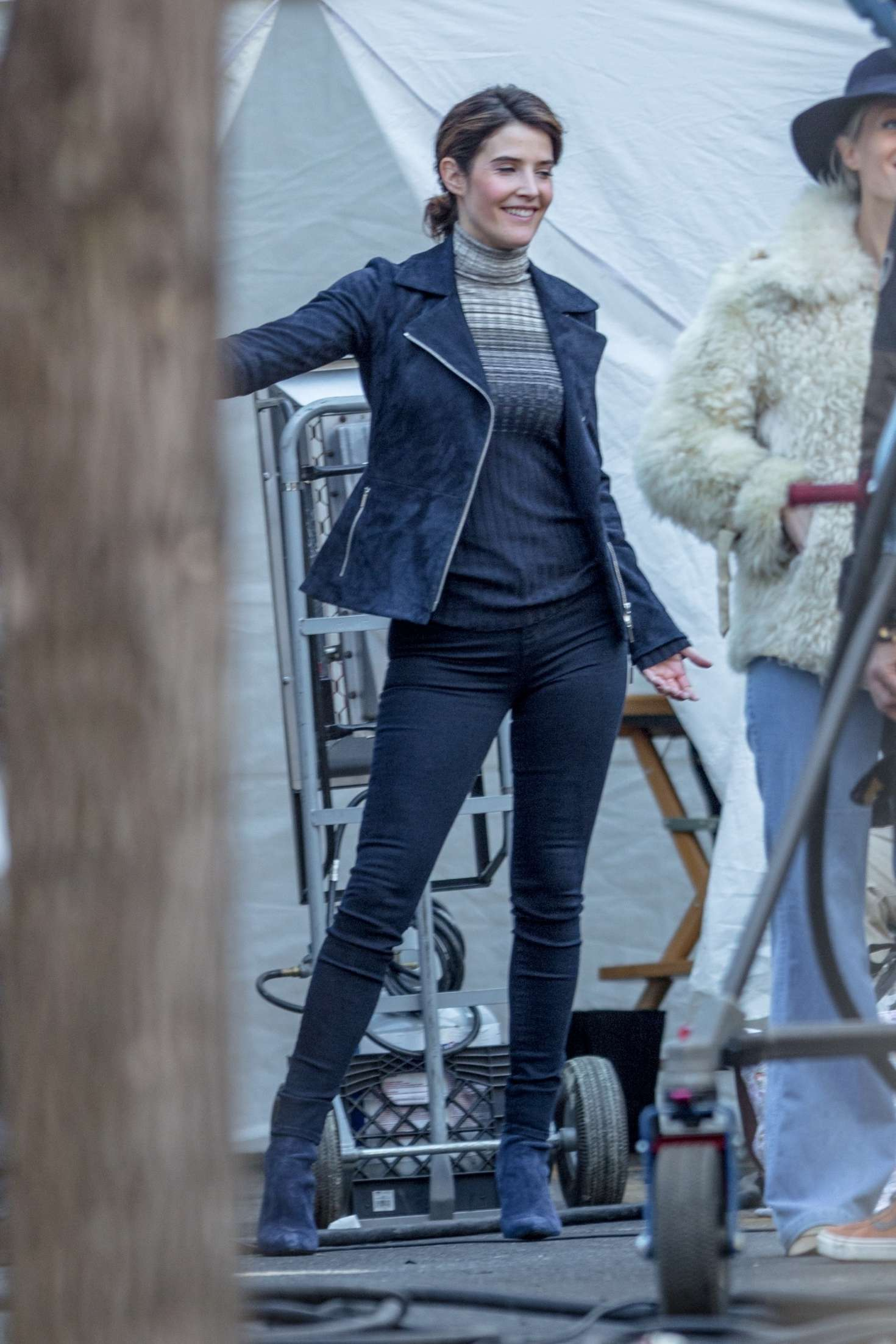 Cobie Smulders On The Set Of Their Upcoming Marvel Hit 14 Gotceleb