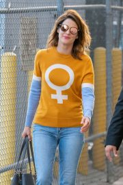 Cobie Smulders - Outside the 'Jimmy Kimmel Live' in Los Angeles