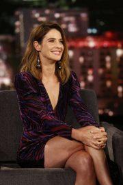 Cobie Smulders - Visits Jimmy Kimmel Live! in Hollywood