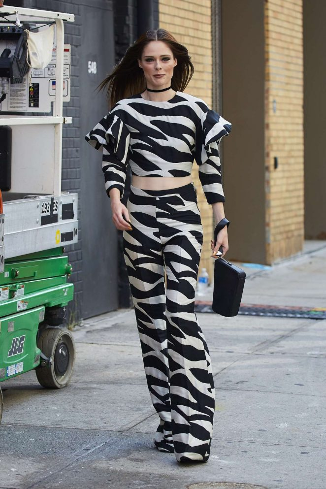 Coco Rocha - Arrives Christian Siriano Fashion Show in New York City