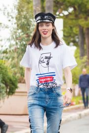Coco Rocha in Jeans at 2019 Cannes Film Festival