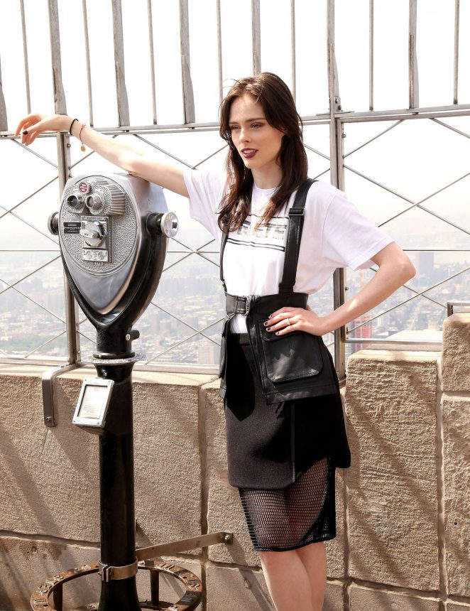 Coco Rocha - Lights The Empire State Building in New York City