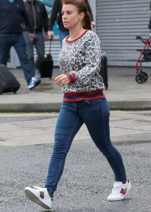 Coleen Rooney at Manchester Airport