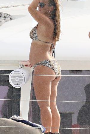 Coleen Rooney - In a bikini on the Luxury Catamaran yacht in Barbados