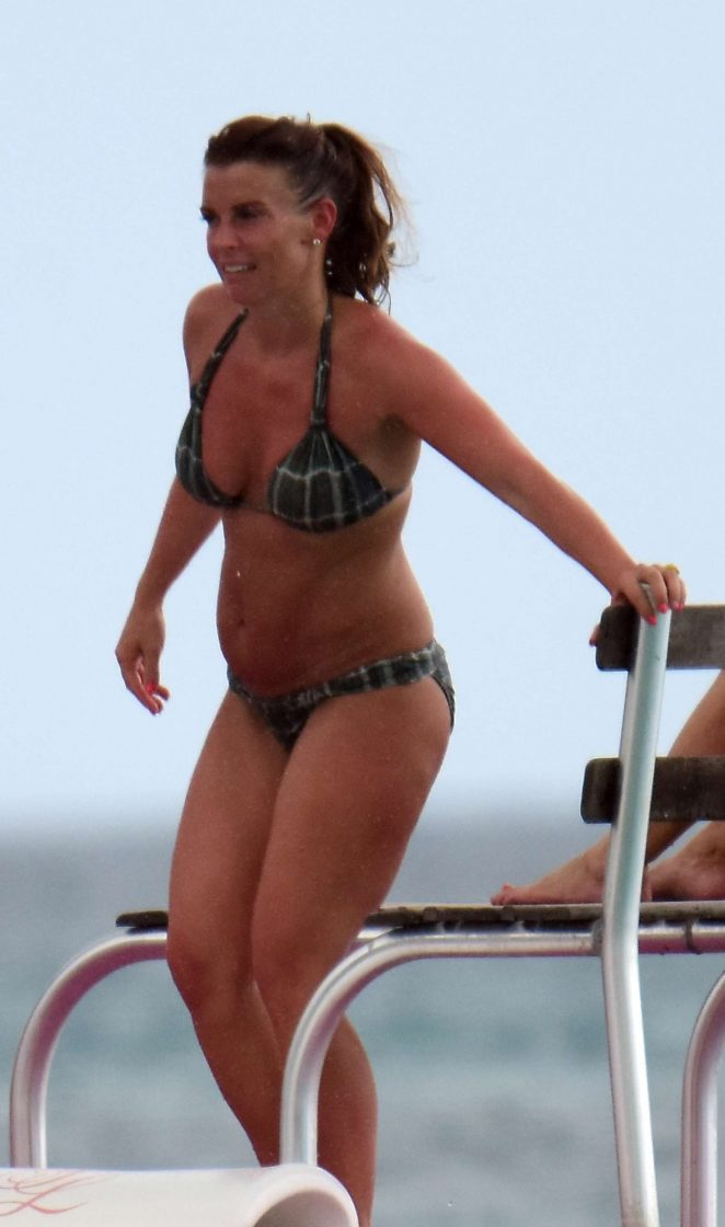 Coleen Rooney in Bikini at the beach in Barbados