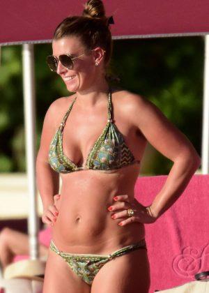 Coleen Rooney in Bikini on the beach in Barbados