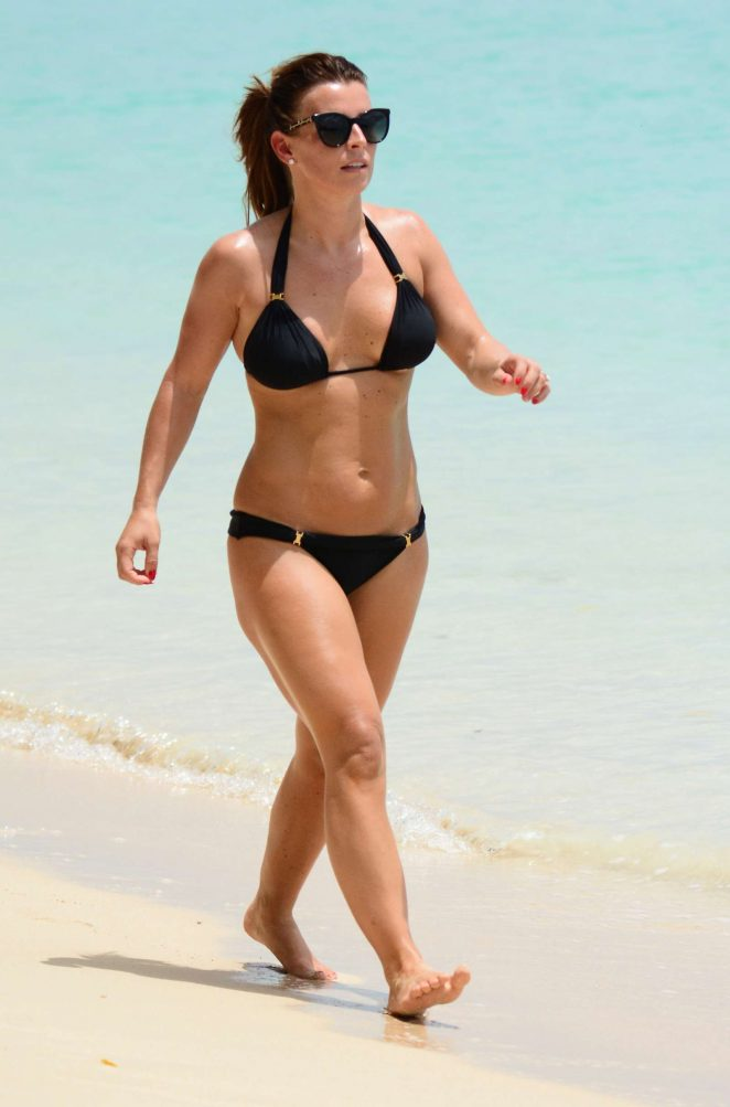 Coleen Rooney In Black Bikini 2017 19 Gotceleb