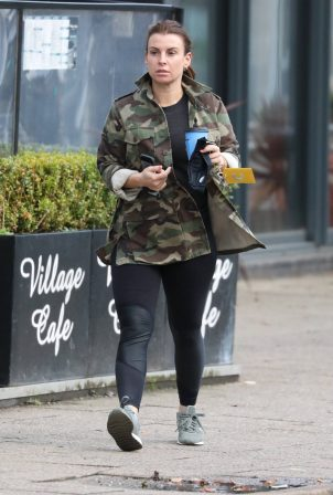 Coleen Rooney - In camo Out and about in Cheshire