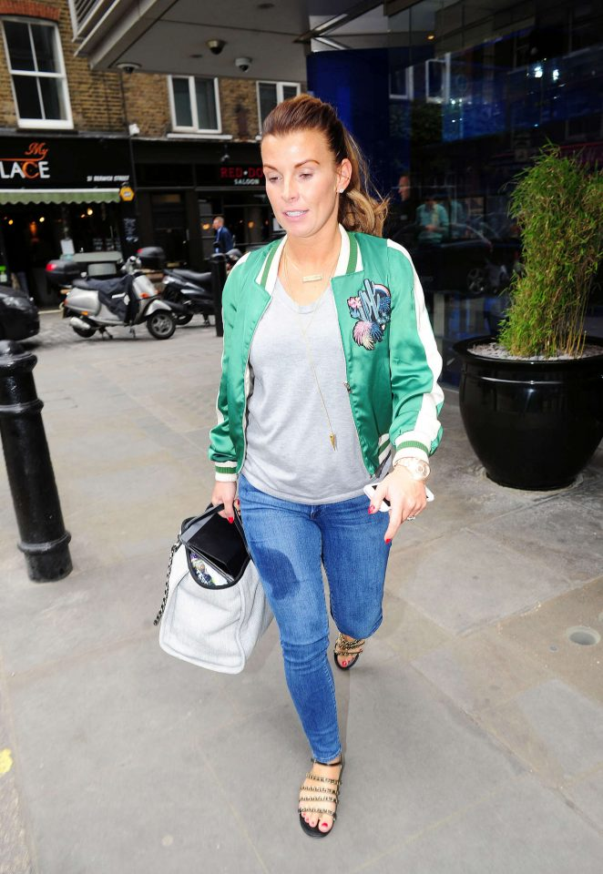 Coleen Rooney in Jeans out in Soho