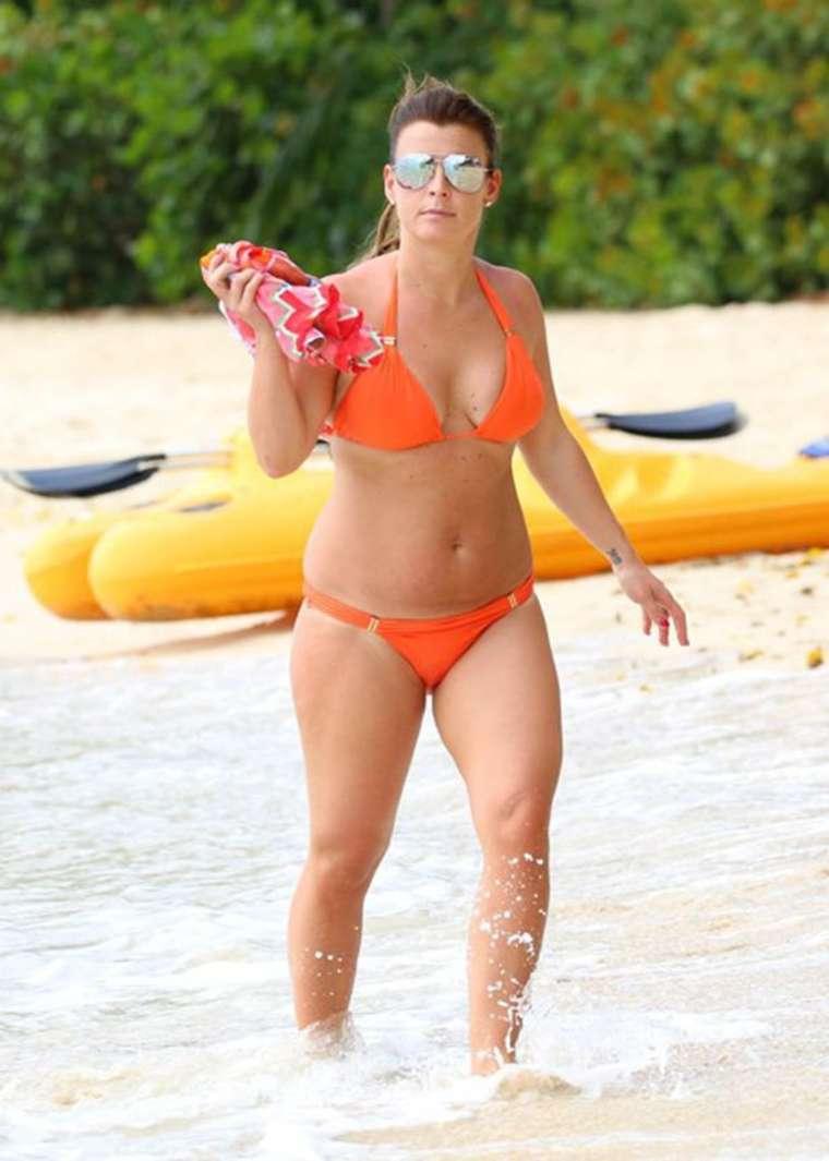 ManU-Spielerfrau Coleen Rooney: In diesen Bikinis