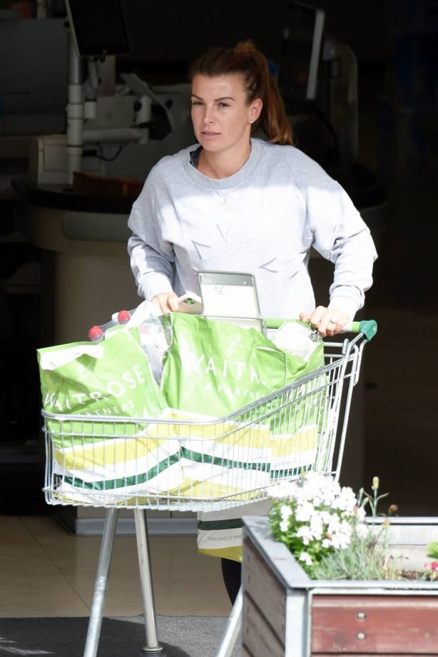 Coleen Rooney shopping at Waitrose supermarket