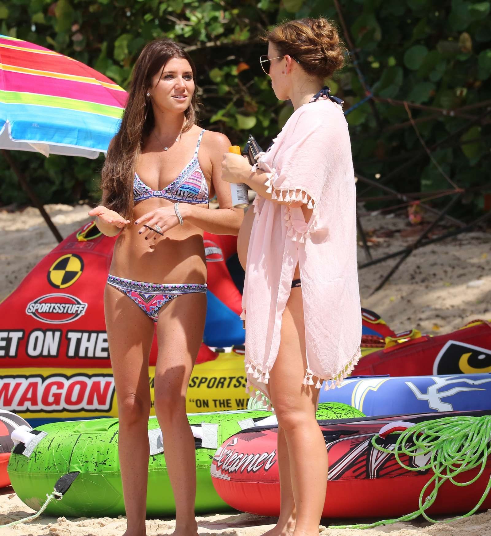 Coleen Rooney  Wearing Bikini at the beach in Barbados Pic 5 of 35