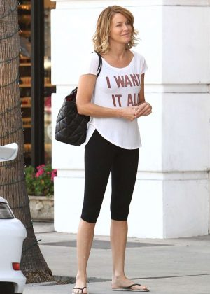 Conne Nielsen in Tights Out in Los Angeles