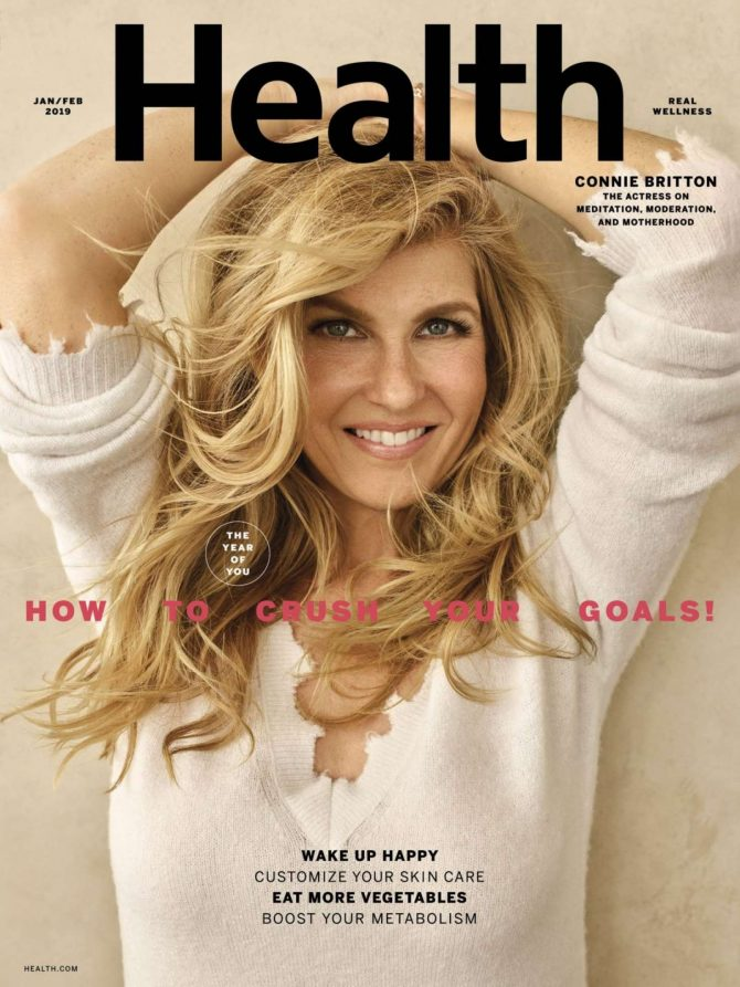 Connie Britton - Health Magazine (January/February 2019)