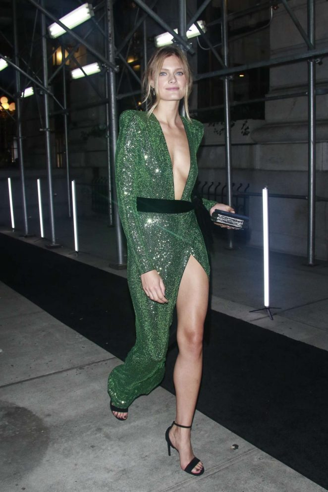 Constance Jablonski – Arrives at Harper's Bazaar ICONS Party in New York