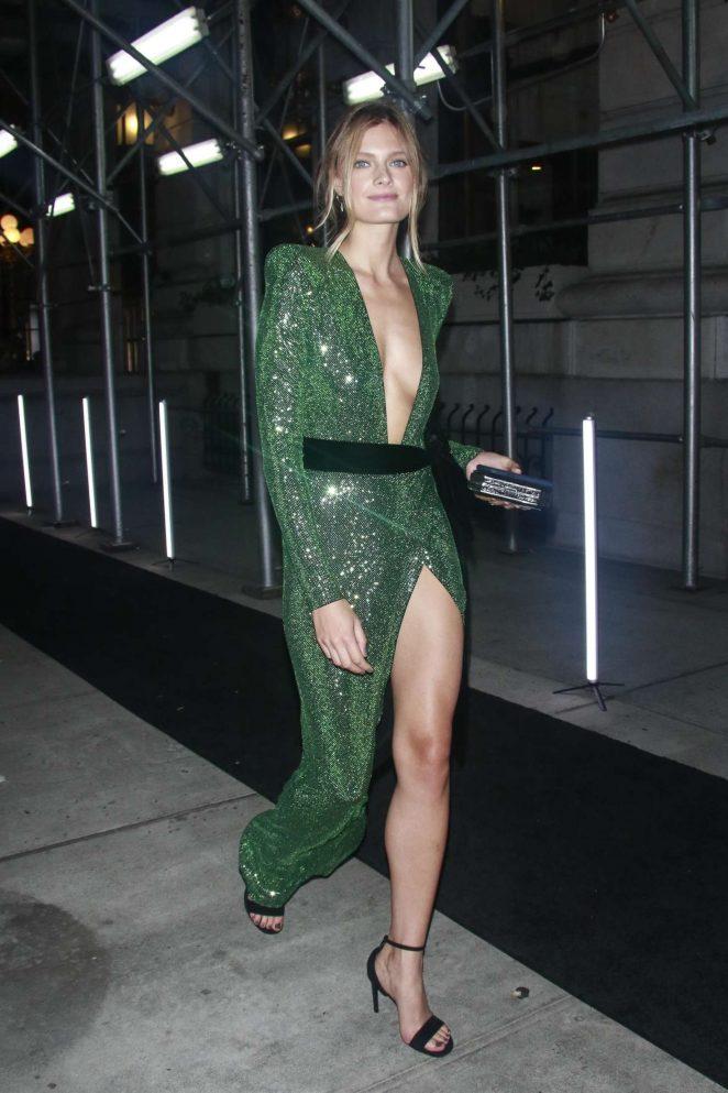 Constance Jablonski – Arrives at Harper's Bazaar ICONS Party in New York