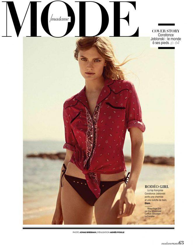 Constance Jablonski - Madame Figaro Magazine (July 2018)