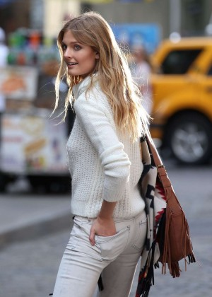 Constance Jablonski on Photoshoot In Soho