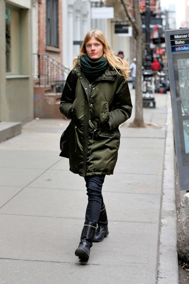 Constance Jablonski out in New York City