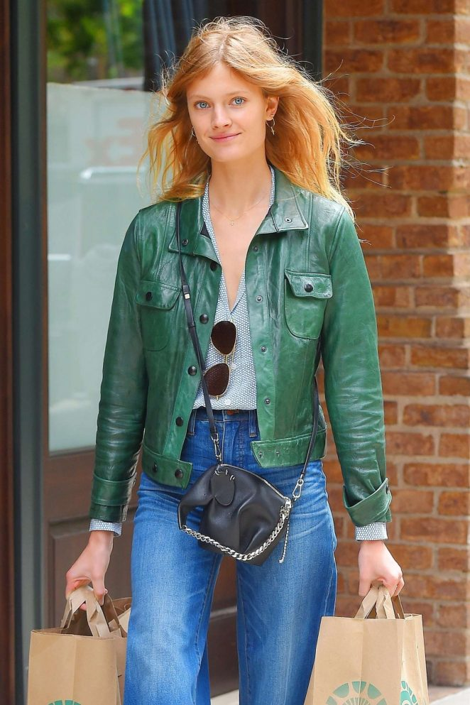 Constance Jablonski Shopping at Whole Foods in New York