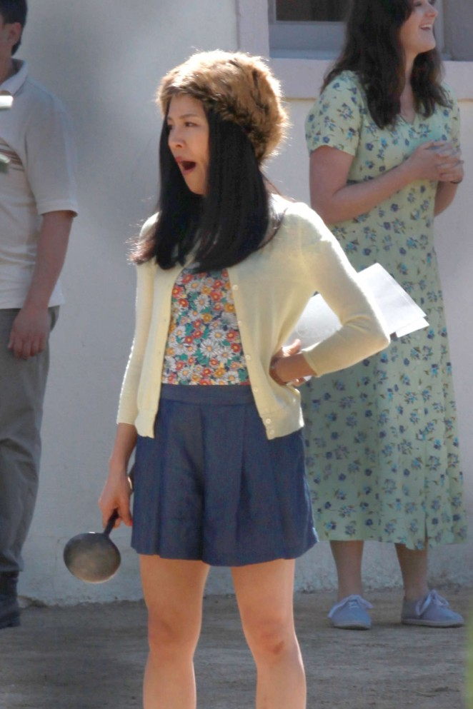 Constance Wu - On the set of 'Fresh Off The Boat' in Los Angeles
