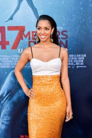 Corinne Foxx - '47 Meters Down Uncaged' premiere photocall in Westwood