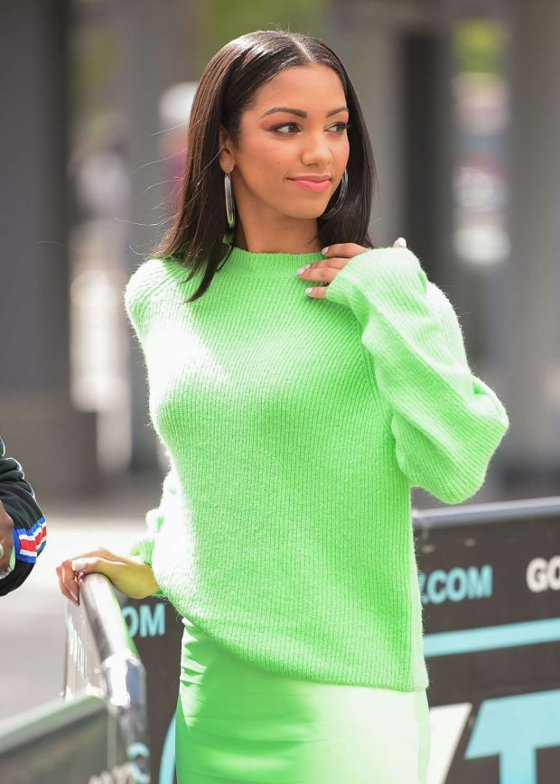 Corinne Foxx at EXTRA in Universal City