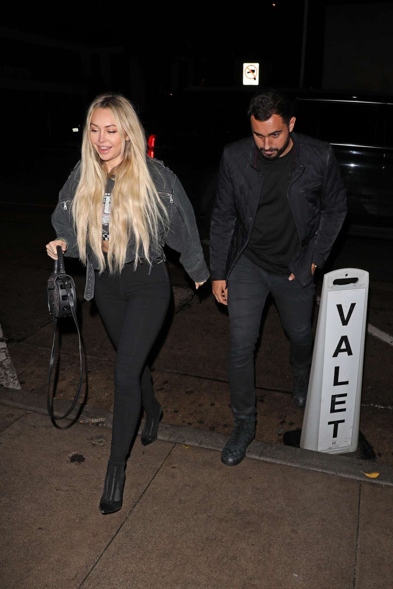 Corinne Olympios is seen going to Craig's restaurant in West Hollywood