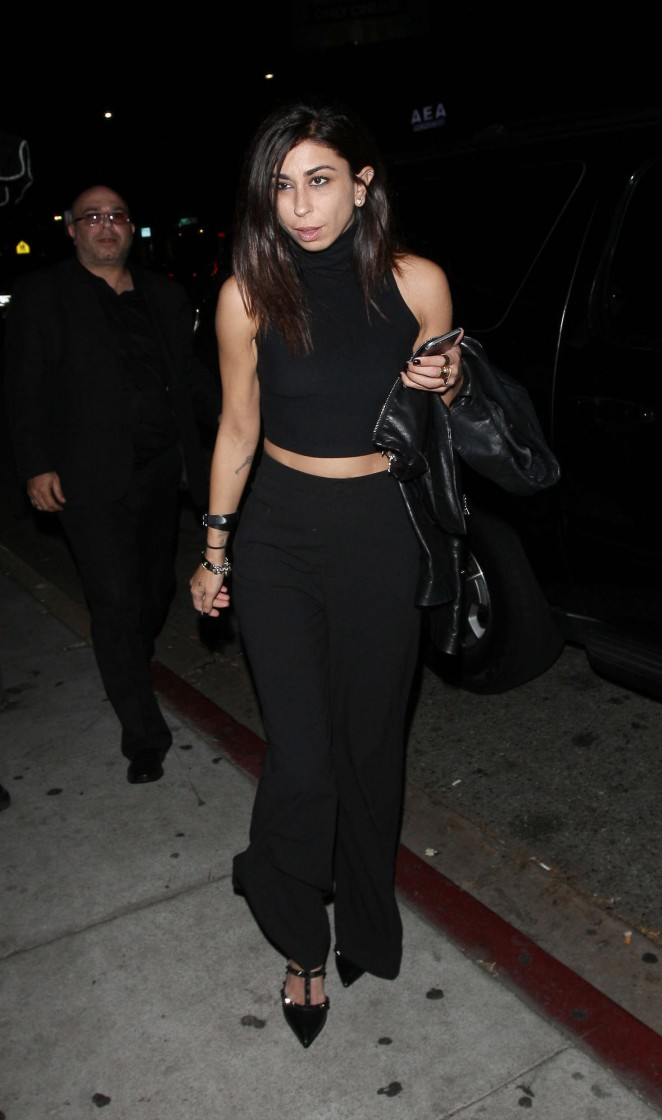 Courtenay Semel Arrives at The Nice Guy Club in West Hollywood