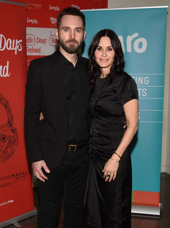 Courteney Cox and Johnny McDaid at IMRO Awards in Dublin