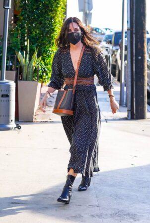 Courteney Cox - arrives at Giorgio Baldi for dinner in Santa Monica