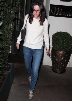 Courteney Cox - Arrives at Madeo restaurant in Los Angeles