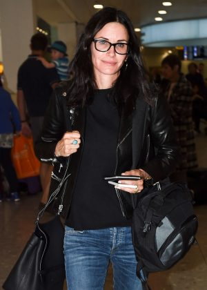 Courteney Cox at Heathrow Airport in London